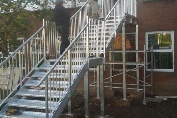 Metal Stiarcase Installation