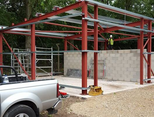 Metal Structure being Constructed